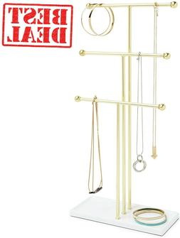 3 Tier Table Top Necklace Holder, Box Display with Jewelry T