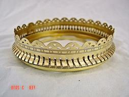 4 INCH  SOLID BRASS  DECORATIVE  BALL  SHADE  RING  for  QUE