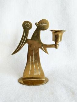 Angel Brass Silhouette Taper Candle Heavy Candlestick Holder