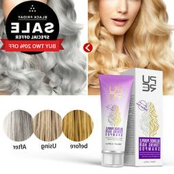 Hair Shampoo Blonde Bleached Removes Yellow and Brassy Tones