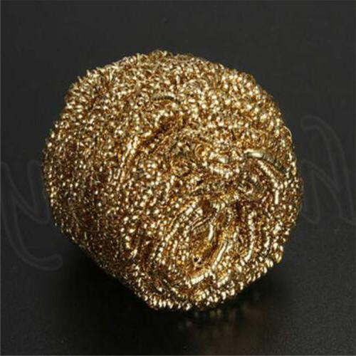 1pc gold soldering iron tip cleaning wire