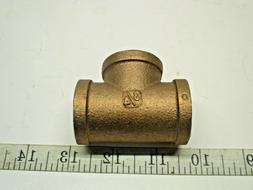 """Red Brass Pipe Fitting, Tee, 3/4"""" x 3/4"""" x 3/4"""" Female Pipe"""
