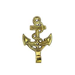 Solid Brass Anchor Wall Hooks ~ Set of 3 ~ Nautical