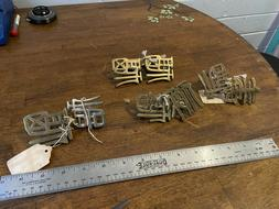"""Solid Brass Chinese Characters, """"Double Happiness"""" Cabinet P"""